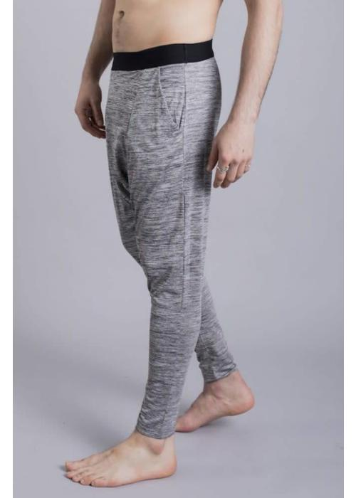 Ohmme Ohmme Matsyendra Fisherman Yoga Pants - Grey