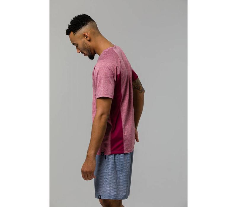 Onzie Raglan Short Sleeve Tee - Crimson