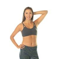 Shakti Activewear Crescent Top - Slate Grey