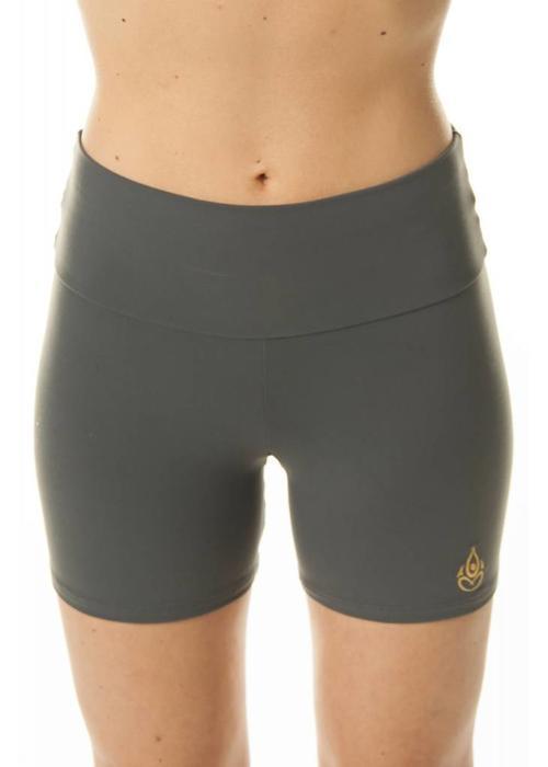 Shakti Activewear Shakti Activewear Mid Rise Shorts - Slate Grey