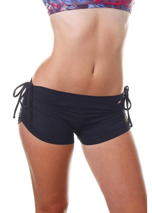 Shakti Activewear Shakti Activewear Side String Shorts - Black