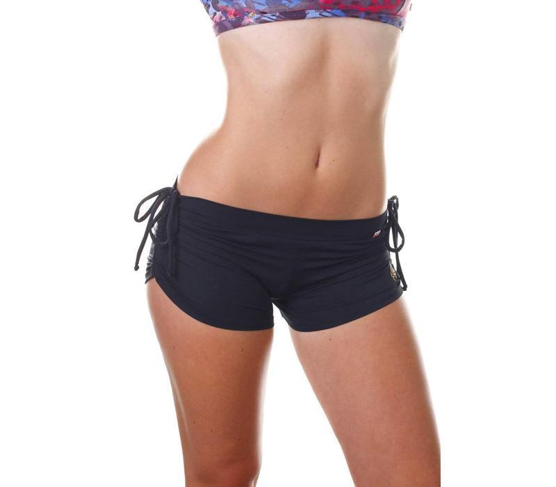 Shakti Activewear Side String Shorts - Black