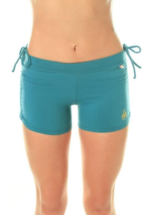 Shakti Activewear Shakti Activewear Side String Shorts - Deep Sea Blue