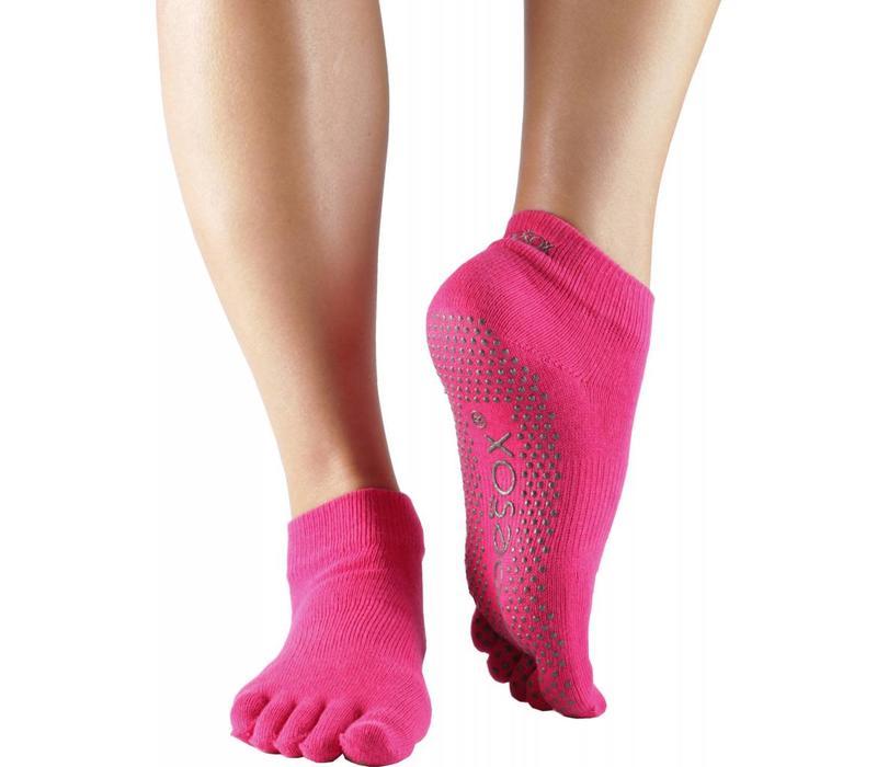 Toesox Ankle Full Toe - Fuchsia
