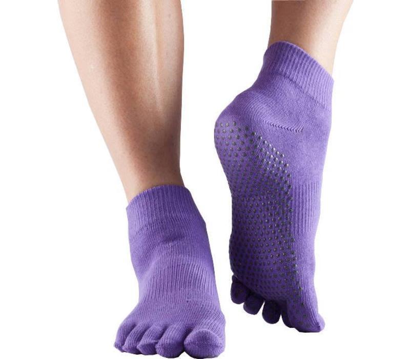 Toesox Ankle Full Toe - Light Purple