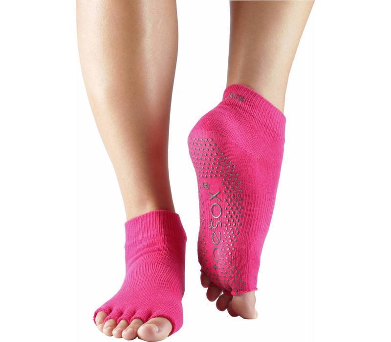 Toesox Ankle Half Toe - Fuchsia