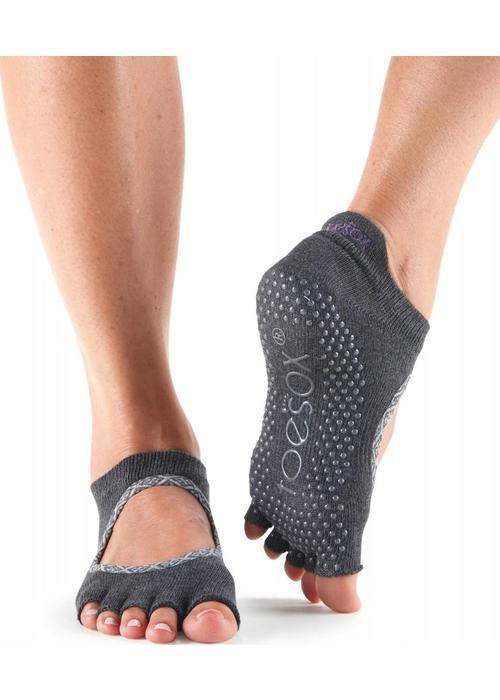 Toesox Toesox Yoga Sokken Bellarina Open Tenen - Carbon Batik