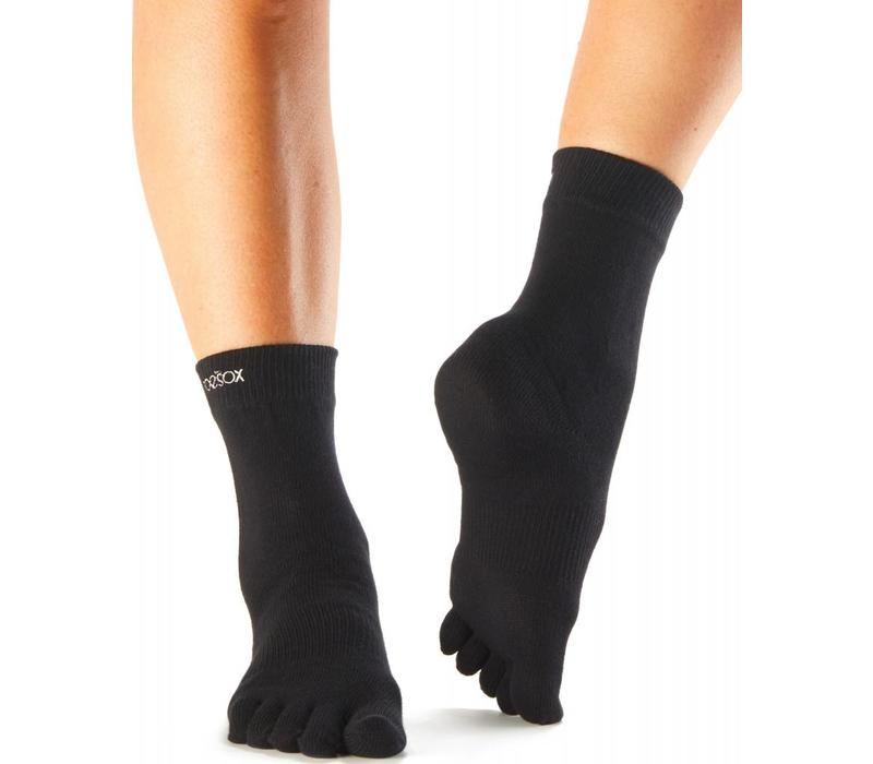 Toesox Casual Crew - Black