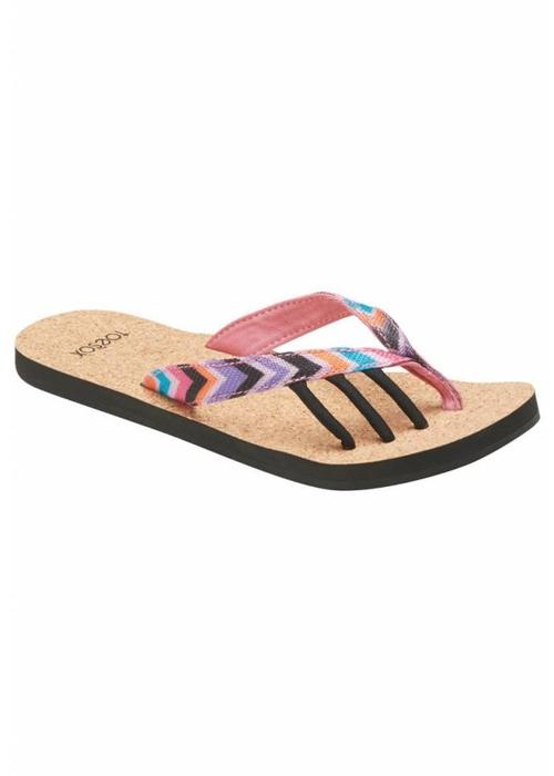 Toesox Toesox Five Toe Sandals Maya - Fiesta