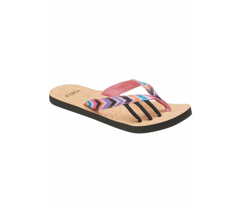 Toesox Five Toe Sandals Maya - Fiesta