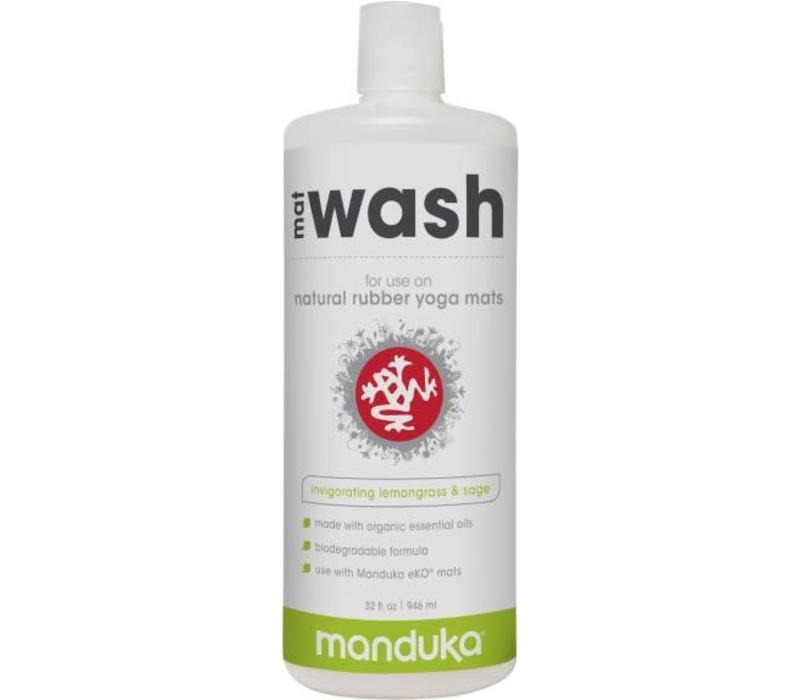 Manduka Natural Rubber Mat Wash 946ml - Invigorating Lemongrass & Sage
