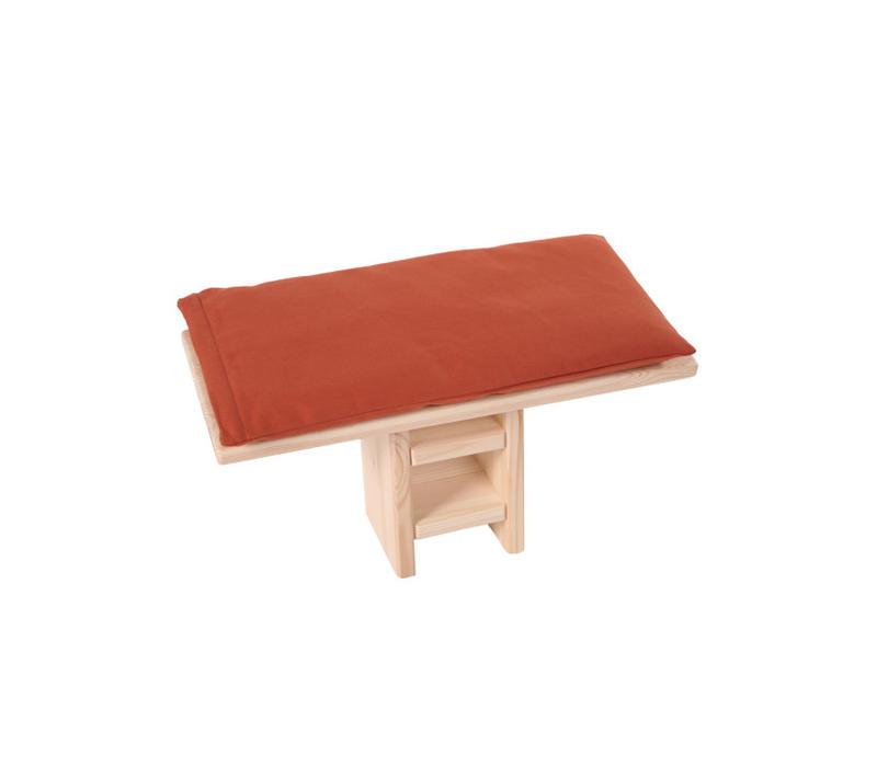 Meditation Bench Cushion - Red