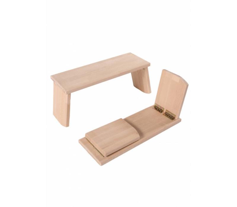 Meditation Bench Rounded Foldable