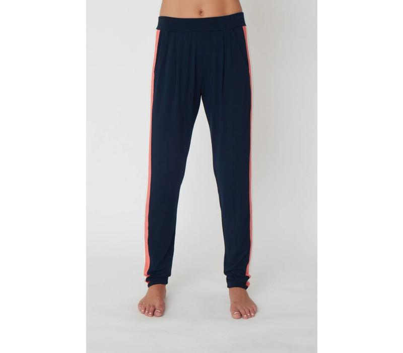 Asquith Divine Pants - Navy/Ivory/Coral