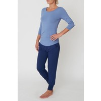 Asquith 3/4 Sleeve Tee - Surf Blue