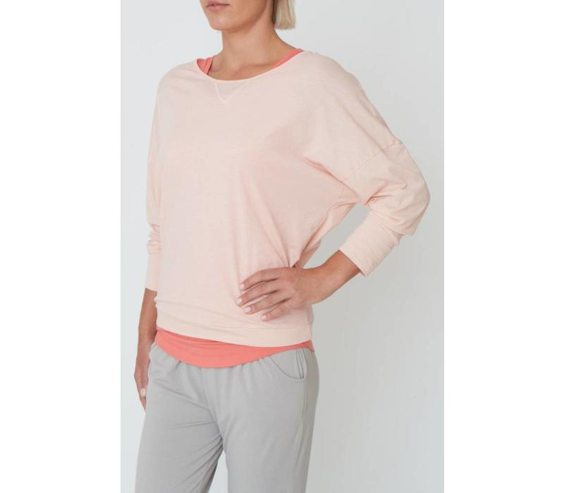 Asquith Long Sleeve Batwing - Oyster Pink