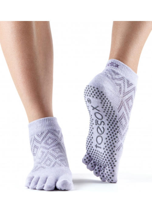 Toesox Toesox Yoga Sokken Enkelhoogte Dichte Tenen - Diamond Lotus