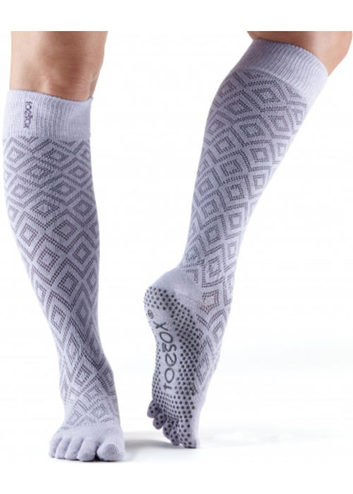 Toesox Toesox Yoga Sokken Kniehoogte Dichte Tenen - Diamond Lotus