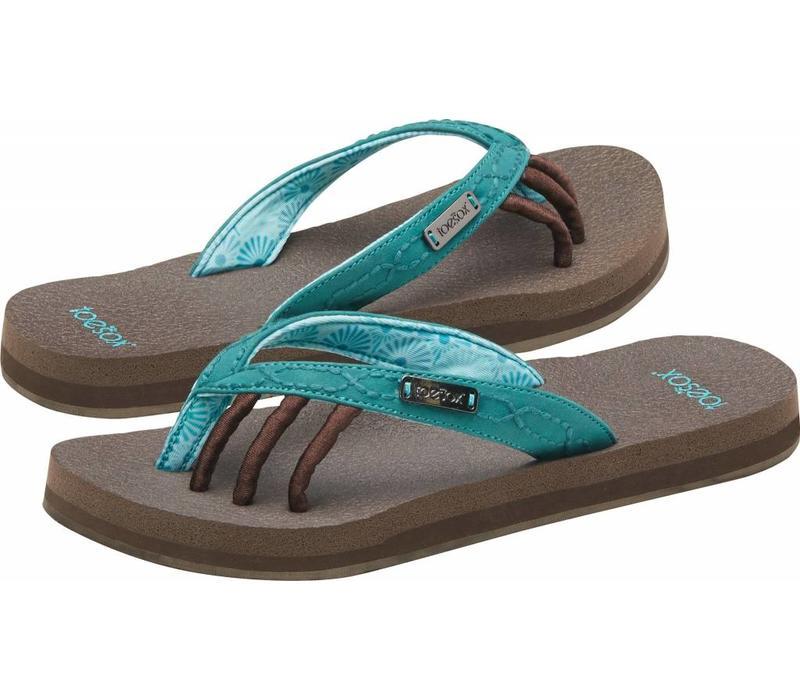Toesox Sandals Women's Serena - Aqua