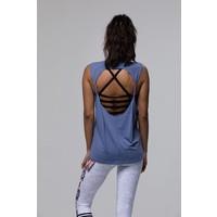 Onzie Twist Back Top - Slate Blue