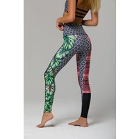 Onzie High Rise Graphic Legging - Cuban Angel