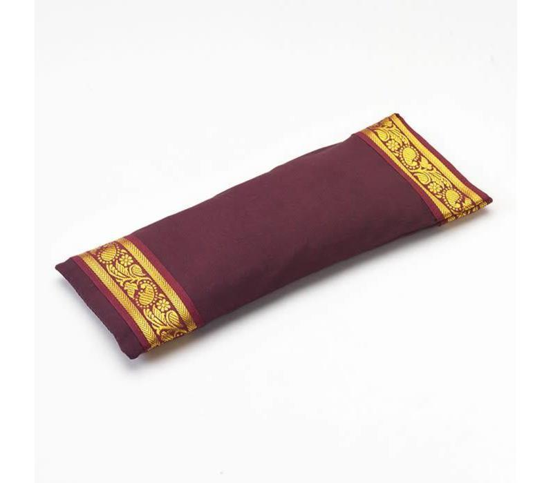 Eye Pillow Golden Details - Aubergine