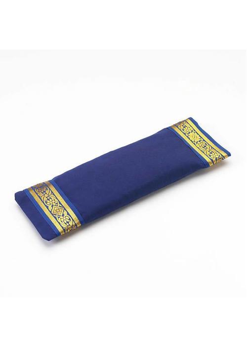Yogamatters Oogkussentje Gouden Rand - Donkerblauw
