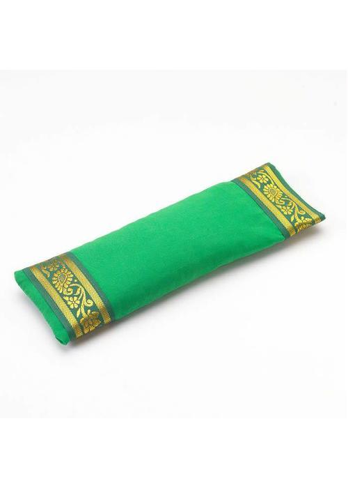Yogamatters Oogkussentje Gouden Rand - Groen