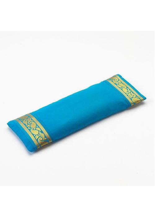 Yogamatters Eye Pillow Golden Details - Sky Blue