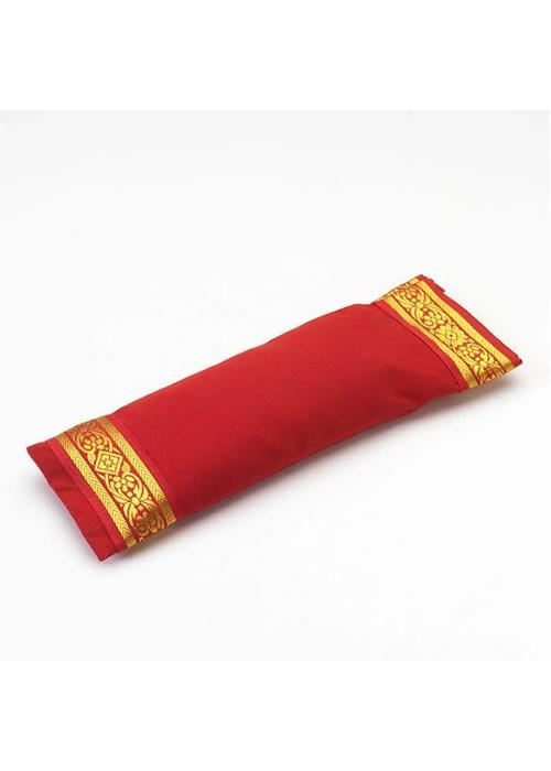 Yogamatters Oogkussentje Gouden Rand - Rood