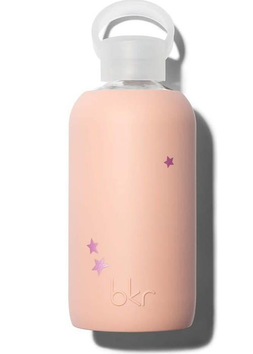 BKR BKR Glazen Waterfles 500ml - Naked Dusty Pink Star