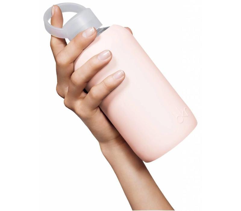 BKR Glass Water Bottle 500ml - Copper Jet Heart