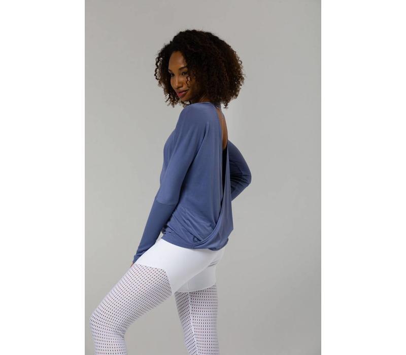 Onzie Drapey V-Back - Slate Blue
