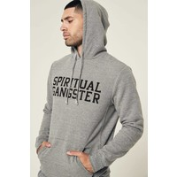 Spiritual Gangster Men's Varsity Hoodie - Heather Grey