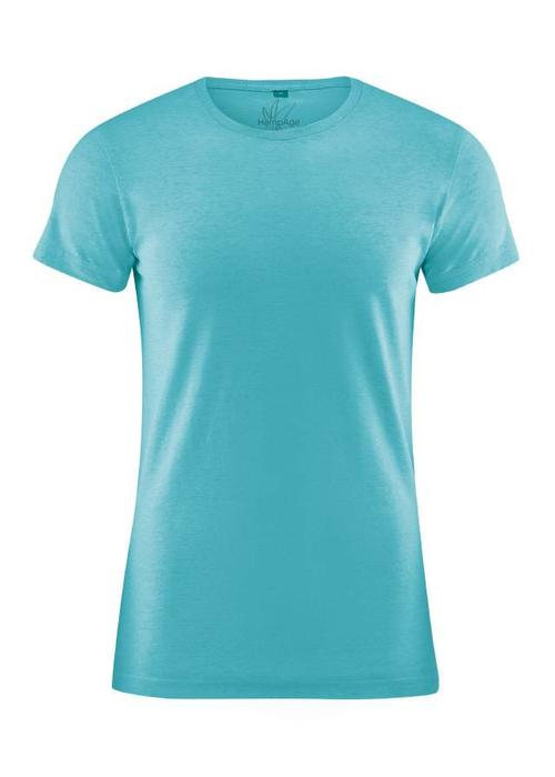 HempAge HempAge Slimfit T-Shirt - Turquoise