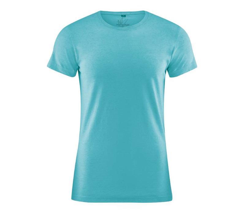 HempAge Slimfit T-Shirt - Turquoise