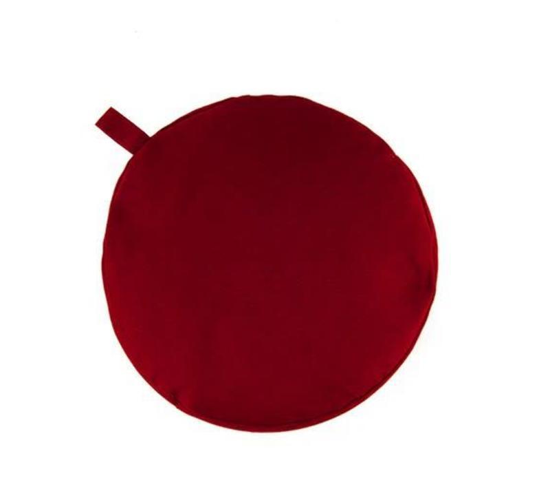 Meditation Cushion 17cm high - Burgundy