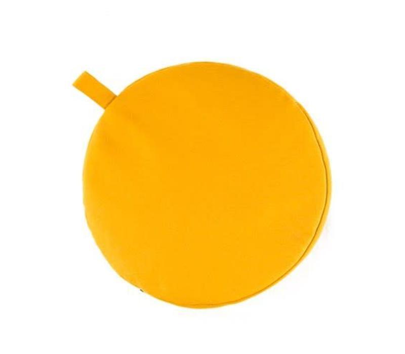 Meditation Cushion 9cm high - Yellow