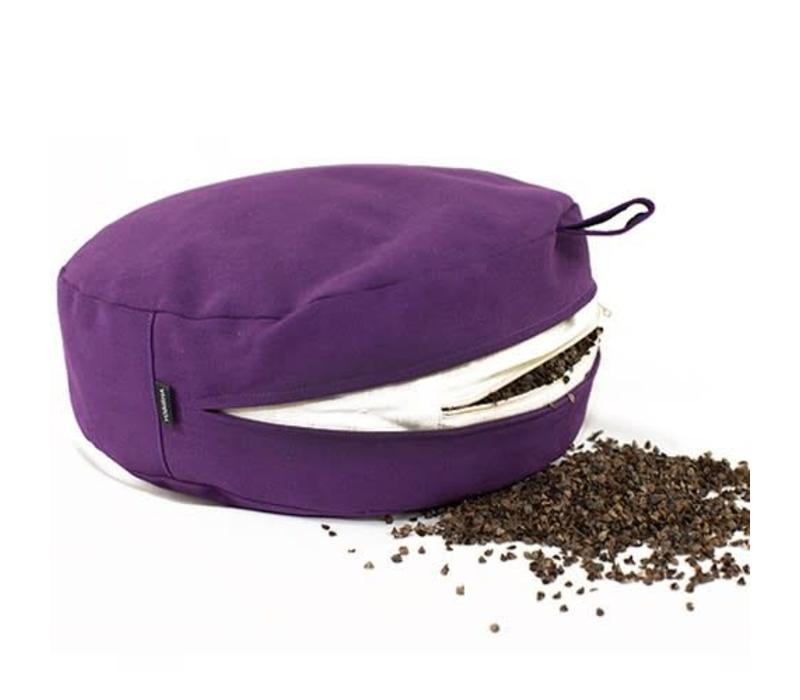 Meditation Cushion 9cm high - Purple