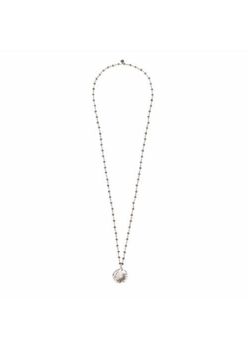 A Beautiful Story A Beautiful Story Rosary Necklace - Gray