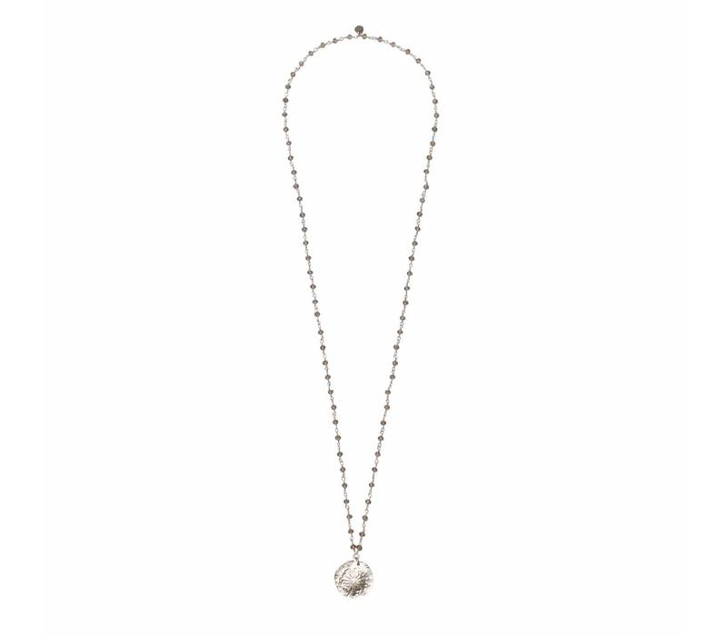 A Beautiful Story Rosary Necklace - Gray