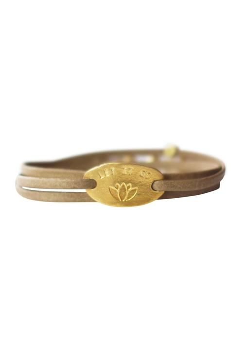 A Beautiful Story A Beautiful Story Lovely Lotus Gouden Armband