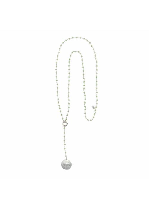 A Beautiful Story A Beautiful Story Rosary Long Necklace - Green