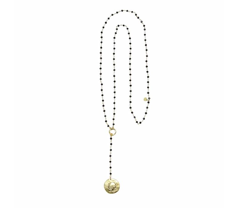 A Beautiful Story Rosary Long Necklace - Black