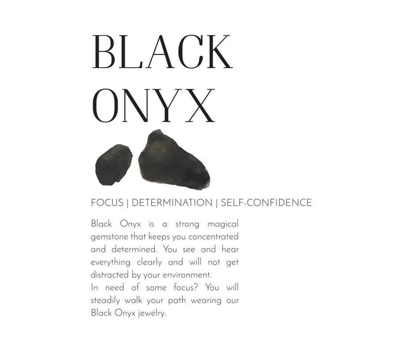 A Beautiful Story Spring Black Onyx Necklace