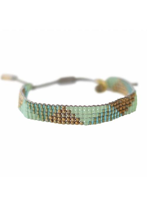 A Beautiful Story A Beautiful Story Stardust Labradoriet Driehoek Armband