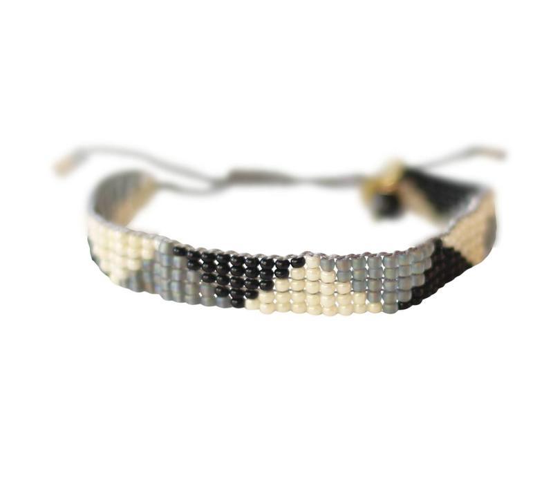 A Beautiful Story Stardust Black Onyx Triangle Bracelet