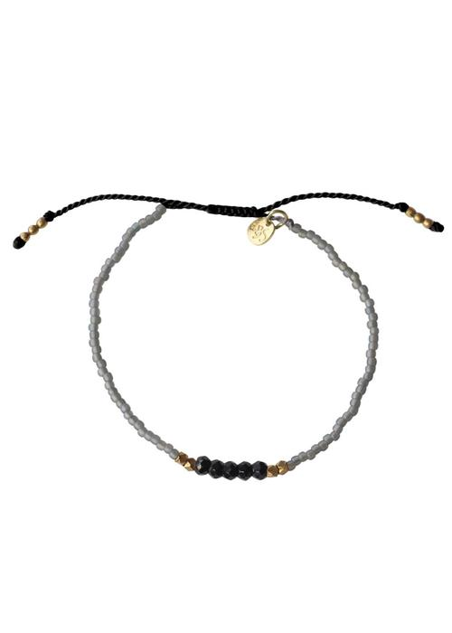 A Beautiful Story A Beautiful Story Summer Spark Zwarte Onyx Armband