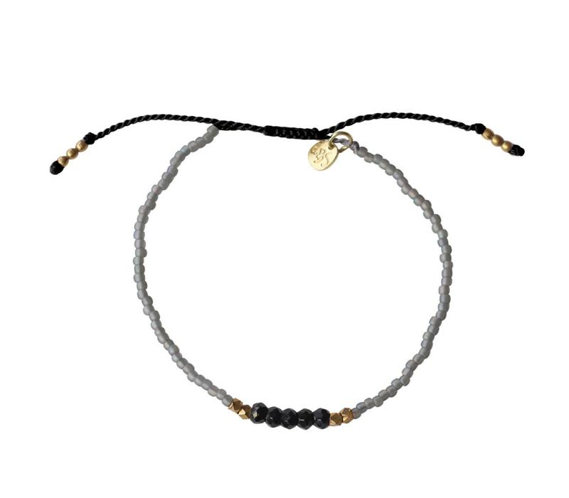 A Beautiful Story Summer Spark Zwarte Onyx Armband
