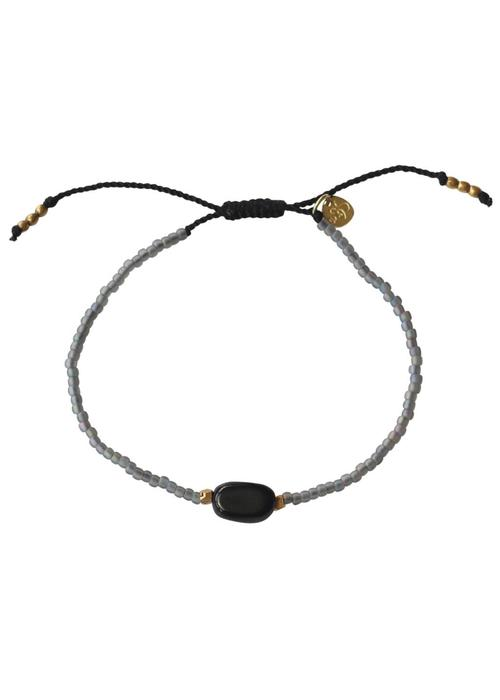A Beautiful Story A Beautiful Story Summer Zwarte Onyx Armband